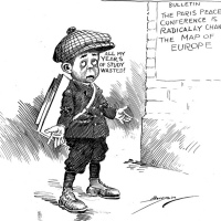 Significance and fate of Woodrow Wilson's 14 point agreement at the Versailles peace conference